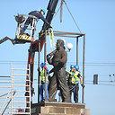 Parengiamieji darbai skulptūroms nukelti