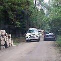 Policijos automobilis pakeliui į įvykio vietą