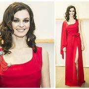 """""""Eurovizijos"""" atrankos vedėja Gerūta Griniūtė pasipuošė raudona suknele: """"Ji seksuali ir skoninga"""""""