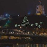 Gedimino kalnas per Kalėdų šventes pasipuoš lazerių projekcijomis