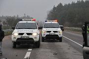 Trakų rajone vertėsi Vilniaus policijos visureigis – sužaloti patruliai ir paštininkė