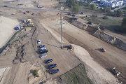 Kaip atrodo Vilniaus vakarinio aplinkkelio statybos iš paukščio skrydžio