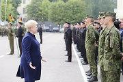 Dalia Grybauskaitė: mokytis būti kariu – sunkus, bet garbingas pasirinkimas