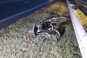 Palangos plente mirtinai partrenktas dviratininkas