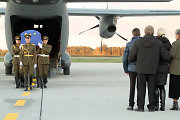 Body of Lithuanian officer killed in Kosovo flown back home