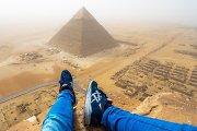 Aštuoniolikmetis nufilmavo savo nelegalų žygį į Cheopso piramidės viršų