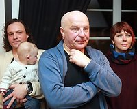 Dirkas Rieblingas, Sigitas Račkys (centre), Kristina Kučinaitė