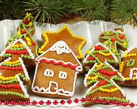 Imbierinės Kalėdų dekoracijos