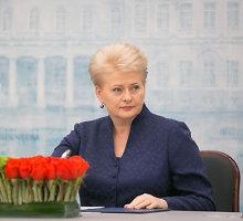 """Dalia Grybauskaitė: """"Dabar ne laikas kalbėti apie Ukrainą NATO"""""""