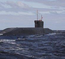 """Rusijos karinės jūrų pajėgos sėkmingai išbandė tarpžemyninę balistinę raketą """"Bulava"""""""