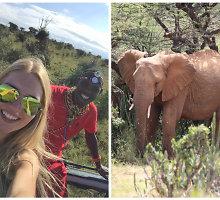 """Kenijoje Ernestą Elzbergaitę sužavėjo laukiniai gyvūnai: """"Kartais negalėjau patikėti, kad tai realybė"""""""