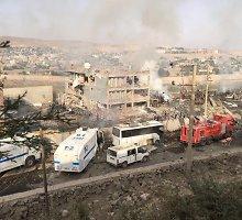 Prie policijos nuovados Turkijoje – didelis sprogimas