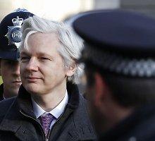 Juliano Assange'o sulaikymą įvertino kaip neteisėtą