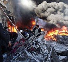 Sirijos Alepo mieste iš oro smogta keturioms ligoninėms ir kraujo centrui