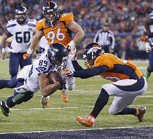 """""""Seattle Seahawks"""" pirmąsyk klubo istorijoje iškovojo NFL čempionų titulą"""