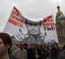 Rusijos gyventojams dėl blogėjančio gyvenimo kantrybės pakaks dar metams ar pusantrų