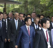 Didžiojo septyneto lyderiai pradeda derybas Japonijoje: svarbiausia – ekonomika