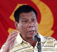 Filipinų lyderis žada atpildą už visus sunkius nusikaltimus – mirties bausmę