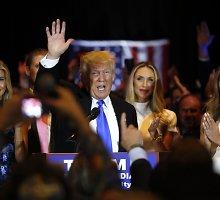 """Politologai prisipažino neįvertinę Donaldo Trumpo: """"Jis kalbėjo taip, kaip kalba žmonės bare"""""""