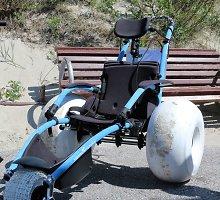 Neįgaliems Neringos svečiams – unikalus įrenginyspasiekti jūrą