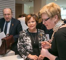 Andrius Kubilius ir Ingrida Šimonytė konservatorių suvažiavime pasakojo anekdotus