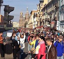 """Rusijoje ir Ukrainoje žmonės renkasi į """"Taikos maršą"""""""