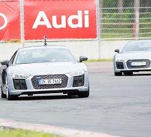 """610 AG išvystantis """"Audi R8"""": ar verta mokėti 200 tūkst. eurų už nurautą stogą?"""