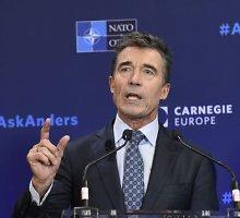 Kadenciją baigiantis Andersas Foghas Rasmussenas: NATO sumažino riebalų ir užsiaugino raumenų