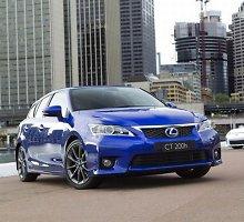 """Kitais metais """"Lexus"""" pristatys atnaujintą CT200h hibridą"""
