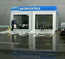 """Prie """"Akropolio"""" nufilmuotas vaizdas: kam asfaltą plauti """"chemija""""?"""