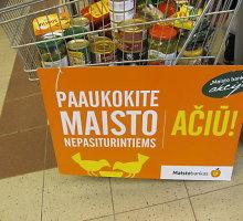 Panevėžys spaudos veidrodyje: Maisto banko akcijos metu panevėžiečiai tryško dosnumu