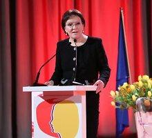 Dėl sugedusio lėktuvo Briuselyje įstrigo Lenkijos premjerė Ewa Kopacz