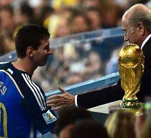 """Seppas Blatteris: """"Lionelis Messi nebuvo geriausias pasaulio čempionato žaidėjas"""""""