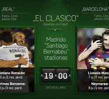 "Pirmasis šio sezono ""El Clasico"": ""Real"" – ""Barcelona"" 0:0"