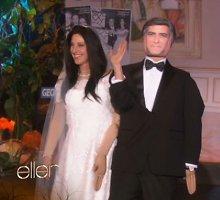 Komikė Ellen DeGeneres per Heloviną persirengė jaunavedžiais George'u ir Amal Clooney