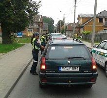 Rugsėjo 2-ąją visi iš 259 Panevėžyje patikrintų vairuotojų buvo daugmaž blaivūs