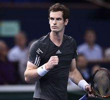 Andy Murray užsitikrino vietą finaliniame sezono turnyre ir Paryžiaus ketvirtfinalyje