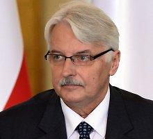 """Lenkijos užsienio reikalų ministras: """"Europos Sąjunga nebėra tokia, į kokią rinkosi stoti Lenkija"""""""