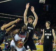C grupė: JAV krepšininkai be vargo sutriuškino ir Naująją Zelandiją