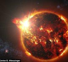 Kosmose užfiksuotas galingiausias žvaigždės žybsnis, 10 tūkst. kartų stipresnis už Saulės