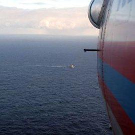 "AFP/""Scanpix"" nuotr./Rusijos sraigtasparnis virš jūros"