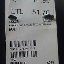 """Gretos Nariūnaitės nuotr./PC """"Ozas"""", parduotuvės """"H&M"""" kainos"""
