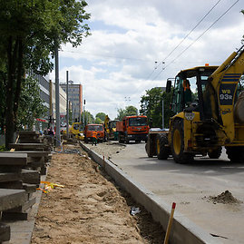Aurimo Šrubėno nuotr./Kelininkai Vilniaus gatvėse 2013 m. vasarą