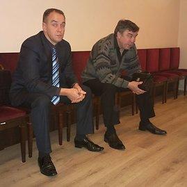 Sauliaus Chadasevičiaus/15min.lt nuotr./Vilius Šlaičiūnas (kairėje) ir Algirdas Jančiauskas