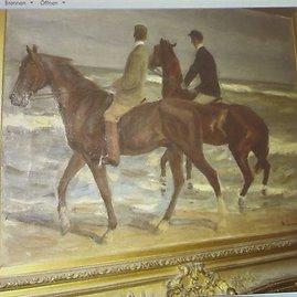 """Reuters""/""Scanpix"" nuotr./Maxo Liebermanno Zwei Reiterio am Strande piešinys ""Two Horsemen at the Beach"""