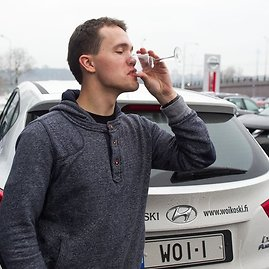 """Irmanto Gelūno/15min.lt nuotr./Vandeniliu varomas """"Hyundai ix35 Fuel Cell"""""""