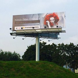 Dž.Butkutės nuotr./Prekybos centro reklama Vilniuje