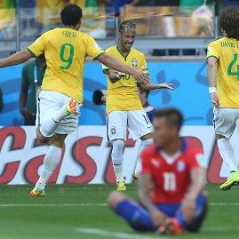 """""""Reuters""""/""""Scanpix"""" nuotr./Brazilija po 11 metrų baudinių serijos įveikė Čilę"""