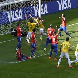 """AFP/""""Scanpix"""" nuotr./Pasaulio futbolo čempionato aštuntfinalis: Brazilija – Čilė"""