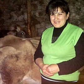 Gruzinė Meriam (49 m.) jau ketveri metai užsiima sūrių gamyba